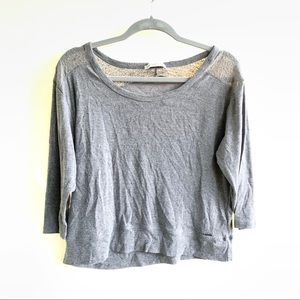Abercrombie Gray Lace Top